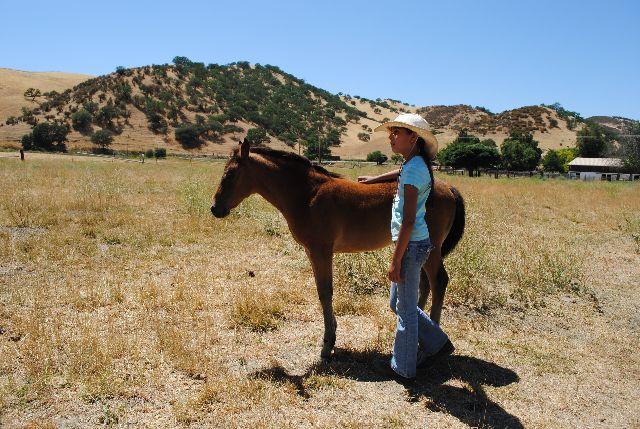 Maya and Oona the horse